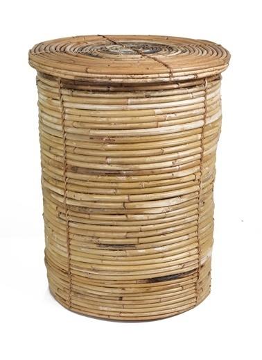 Kanca Ev Bambu Küçük Çamaşır Sepeti Renkli